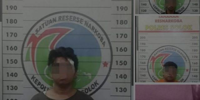 Tiga Pelaku Penyalahgunaan Narkotika Di Gaung Solok Ditangkap Polisi