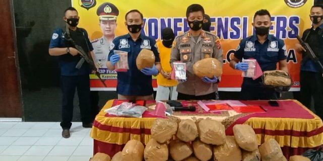 Puluhan Kilogram Ganja dan Sabu Siap Edar Berhasil Digagalkan Satnarkoba Polres Solok Kota