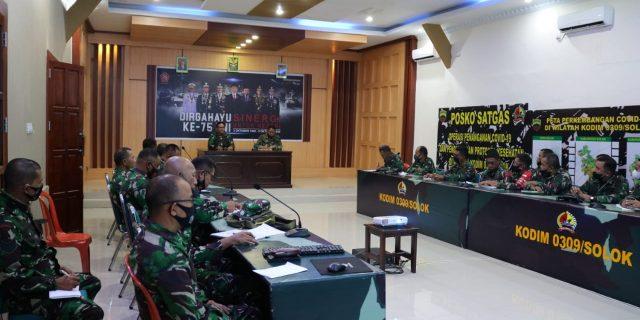 Rapat Evaluasi PPKM Mikro Di Wilayah Kodim 0309 Solok Langsung Dipimpin Dandim
