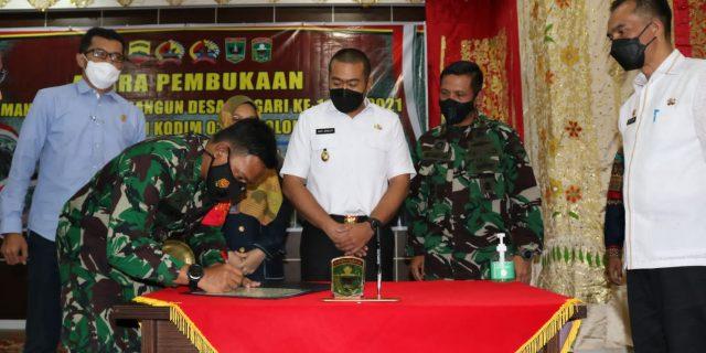 Secara Resmi,  Wagub Buka TMMD 112 Kodim 0309 Solok
